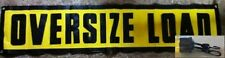 "Heavy Duty 18""x84"" Oversize Load Sign with Bungee Cords ~ Truck ~ Safety"