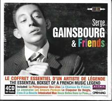 COFFRET 4 CD SERGE GAINSBOURG & FRIENDS GRCO/AUFRAY/BARDOT/AUBRET/CLARK.....NEUF