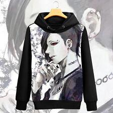 Anime Tokyo Ghoul Uta Unisex Coat Pullover Hoodie Long Sleeve Cosplay#NX-X48