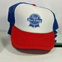 PABST BLUE RIBBON BEER  ADVERTISING BASEBALL CAP ADJUSTABLE NWOT