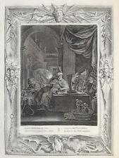 Picart Temple of Muses Large Impressive Print Lycaon Werewolf 1733+