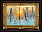 "ORIGINAL Oil Painting Handmade Arseni ~ CHRISTMAS 6"" X 4"" NO FRAME Artist Art2"