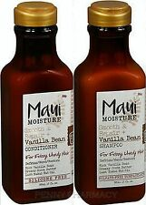 Maui Moisture Smooth + Repair VANILLA BEAN Shampoo & Conditioner COMBO 13oz ea