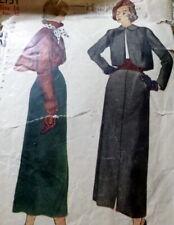 LOVELY VTG 1950s JACKET & SKIRT Sewing Pattern 14/32