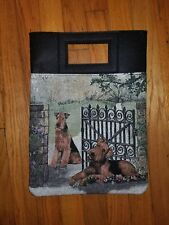 Airedale Lakeland Welsh terrier Dog tapestry purse book computer bag ltd ed