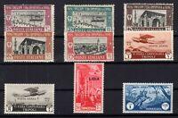 P134813/ ITALIAN LYBIA / LOT 1927 – 1937 MINT MNH CV 255 $