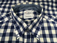 GANT Original Rugger Pre-Shrunk Blue White Gingham Big Check Cotton Shirt Sz XL