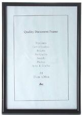 6x Plain Easy Black A4 Document Certificate Photo Picture Glass Frame Bulk