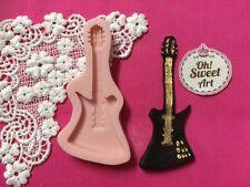 Electric Guitar  Silicone Mold Food Safe wedding Cake Decoration  Cupcake (FDA)