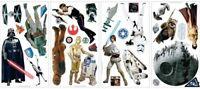 STAR WARS Classic 31 BiG Wall Stickers Yoda R2D2 Movie Room Decor Vinyl Decals
