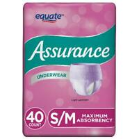 Assurance Incontinence Disposable Underwear for Women S/M Adult Diaper Day Night