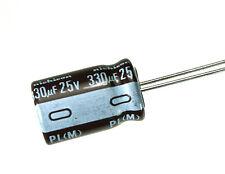10pcs Nichicon PL 330uF 25v 105c Radial Electrolytic Capacitor