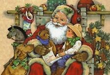 NEW! Santa Claus Teddy bears Christmas collection Russian Postcard modern сards