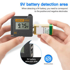 Lithium Battery Tester Measuring 1.2V-4.8V/9V Battery Capacity Diagnostic Tool