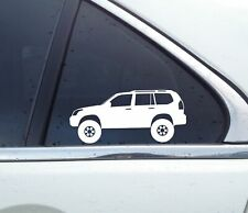 2X Lifted 4x4 stickers - for Toyota Land Cruiser Prado (5-DOOR) J120 | 120