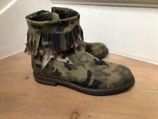 Vingino suede camouflage fringe boots - Size 33 / UK 1