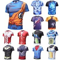 Men's 3D Strong Muscle Printed T-shirts Short Sleeve Funny Tee New Casual Tops