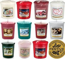 8 x Yankee Candle Votives / Samplers -8 Different Christmas Scented Votive