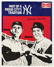 Mickey Mantle Signed Budweiser Yankees Counter Display Ad w/ Easel