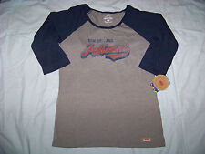 Authentic Sportige Apparel Women's New Orleans Pelicans 3/4 Sleeve Shirt NWT XL