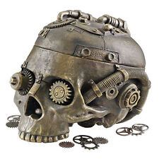 Halloween Industrial Age Skeleton Steampunk Resin Skull Containment Vessel