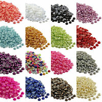 Wholesale 2000pcs Flat Back Pearl Half Round Bead for Nail Craft Jewelry 2,3,4mm