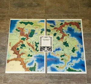 AD&D The World of Greyhawk Gazetteer and 2 World Maps - Dungeons & Dragons - TSR