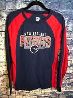 Hands High New England Patriots L/S Navy/Red T-shirt Size M🔥🏈 Rare🔥