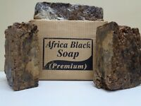 Raw African BLACK SOAP Unrefined Organic From GHANA Premium Quality -Choose Size