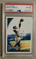 2010 Topps 7 Mickey Mantle PSA 10 Gem Mint TARGET THROWBACK EXCLUSIVE POP 1?