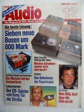 Audio 12/84. arcus TM 86, Canton CT 800, INFINITY RS 7b, KS tertia D 800, ONKYO sc750