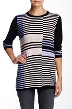 NEW Vince Intarsia Stripe Pullover Sweater Size Small Wool Blend $265