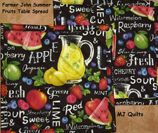 "Set of 2 (8"") Farmer Johns "" Fruit Table"" Handmade-Quilted-Insulated-Hot Pads"