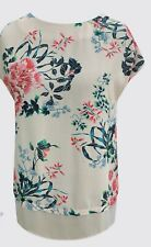 Ladies 2-Tier Light Peach Floral Tunic Top for all occasions Sizes 10-12-14 NEW