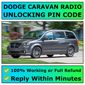DODGE GRAND CARAVAN RADIO UNLOCKING PIN CODE DECODE ALL MODELS AVAILABLE | FAST✅