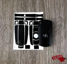 BLACK MATTE Key Fob Wrap Cover Overlay BMW 1 3 5 6 Series Z4 X1 3 X5 X6 M