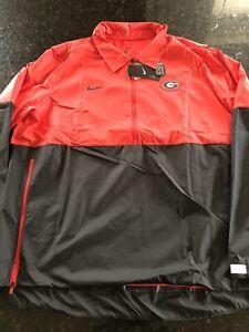 Nike Georgia Bulldogs Football Coach Windbreaker Jacket LS Mens Sz XL CQ5160-657