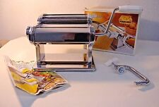 Atlas 150 Mechanical Pasta Maker Italy + Instruction Recipe Booklet