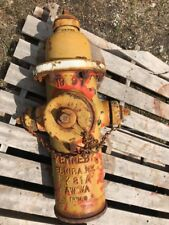 KENNEDY FIRE HYDRANT HEAD, Cast Iron Bronze Paint Rust Patina 1997 5-1/4