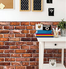 Wallies BRICKS wall stickers 2 huge sheets decal kitchen den living room country