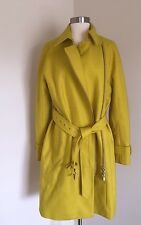 JCrew Belted Zip Trench Coat Wool Melton Outerwear e4396 $398 Yellow 10 SOLDOUT!