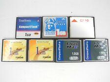 Lot Of 7x 1GB CF Compact Flash Camera Memory Cards Various Brands