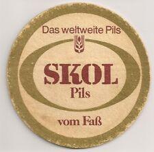 """""""SKOL Pils"""" - alter Bierdeckel """"Das weltweite Pils"""" aus Österreich"""