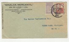 1929 Mexique timbres sur lettre / B5A