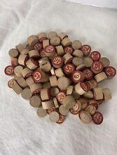 vintage Bingo Numbers - Wooden - Lot Classic