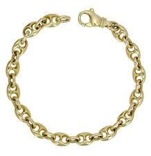 "14k Yellow Gold Solid Link Chain Gucci Mariner Bracelet 7.5"" 7.5mm 23.5 grams"