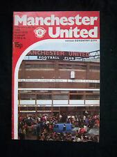 Orig.PRG   England 1.Division  1978/79  MANCHESTER UNITED FC - COVENTRY CITY  !!