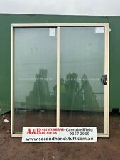 NEW Aluminium SLIDING DOORS 2100h x 1800w (Approx size) 5 COLOURS
