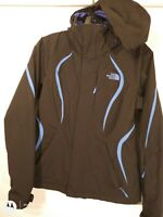 The North Face Womens Black HyVent Hooded Lightweight Ski Rain Jacket Size XS