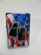 "ZIPPO - ""Flag and Dog Tag"" - NUOVO & OVP - # 917"